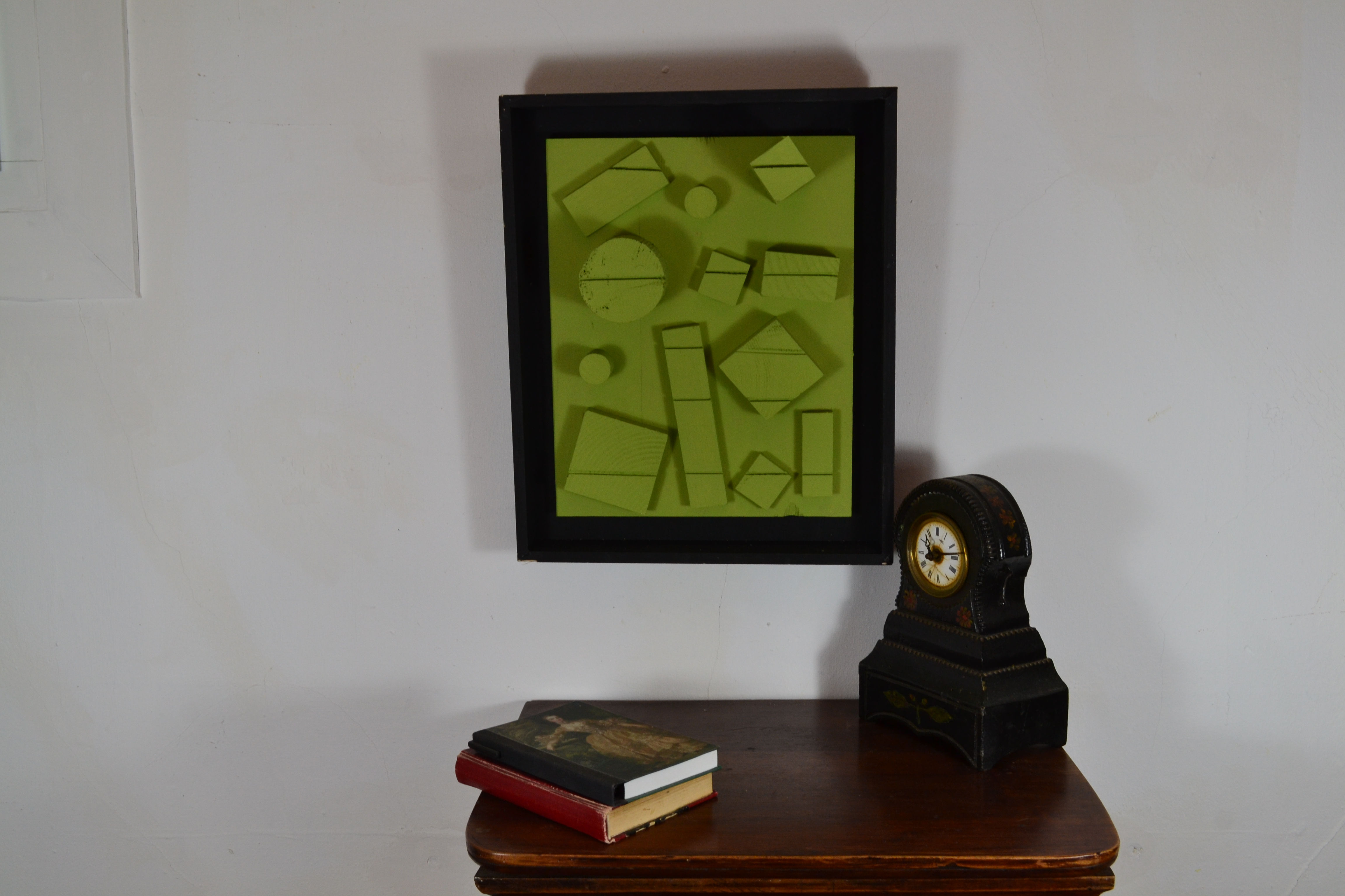 d coration murale en bois massif peint la main. Black Bedroom Furniture Sets. Home Design Ideas