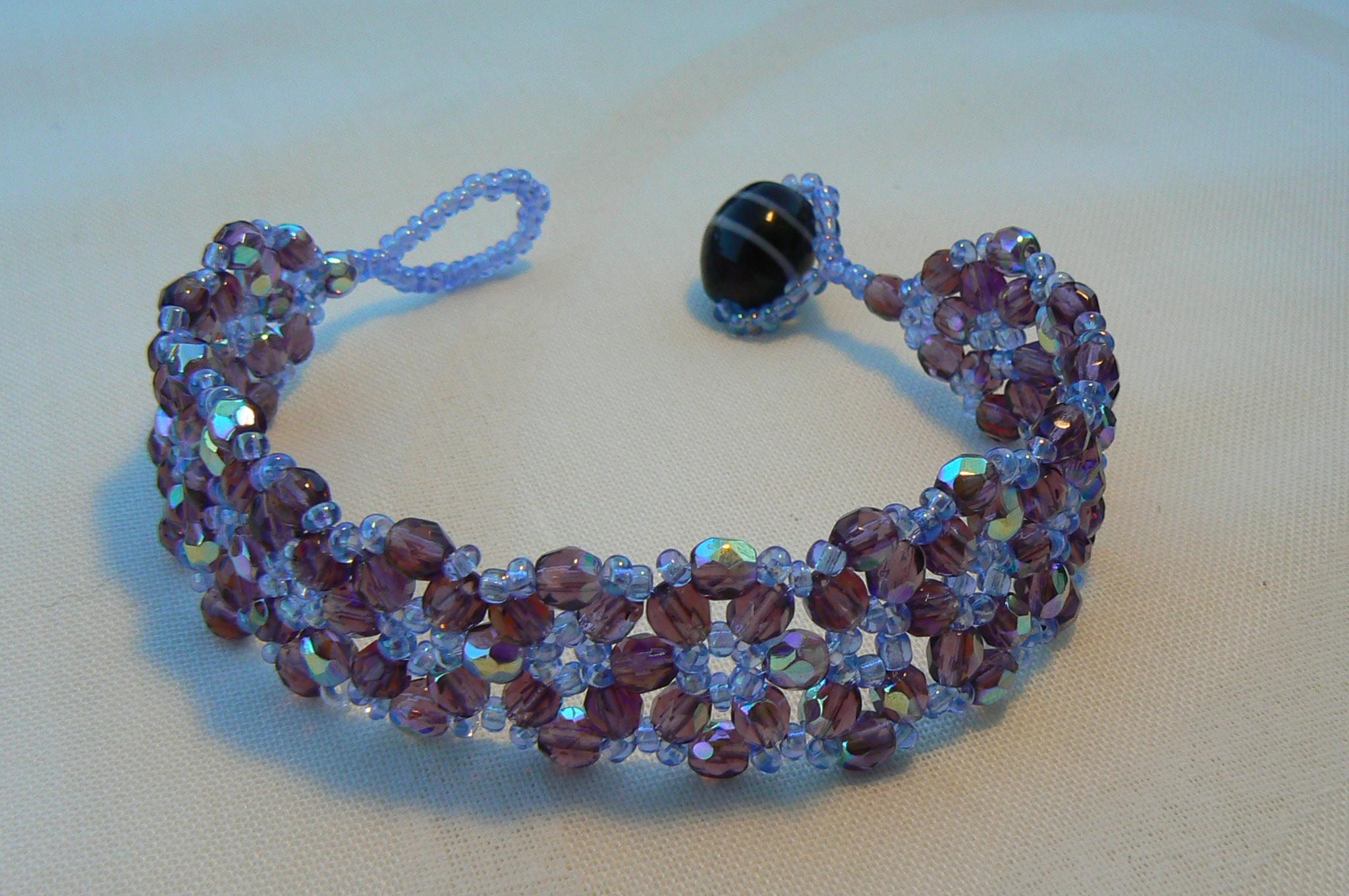 Bracelet Perles de cristal Swarovski et perles de rocaille