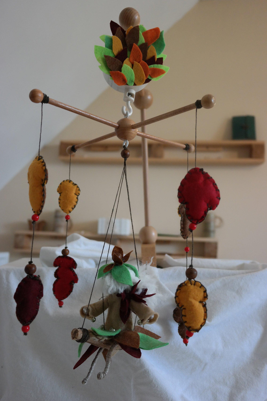 Cadeaux Fait Maison Pour Noel mobile original musical tourne artisan fait main jouet de lit suspension  bois bébé naissance cadeau noel