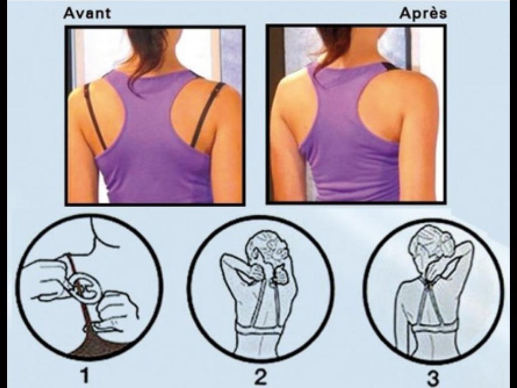attache bretelles soutien gorge dos