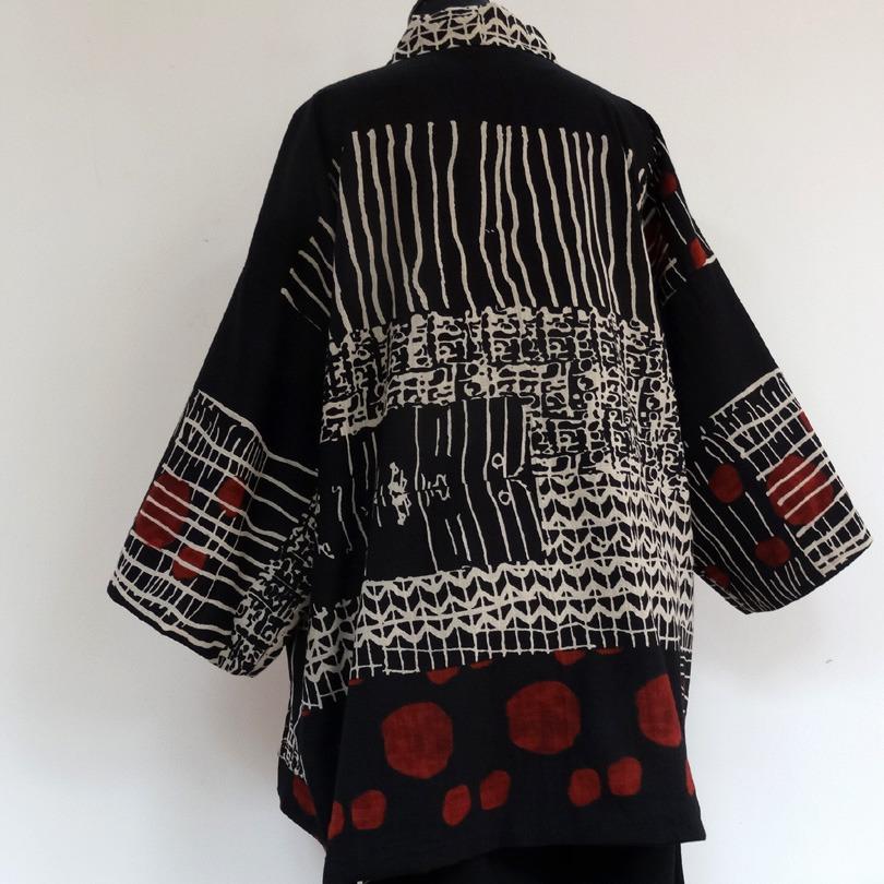 Veste kimono bordeaux