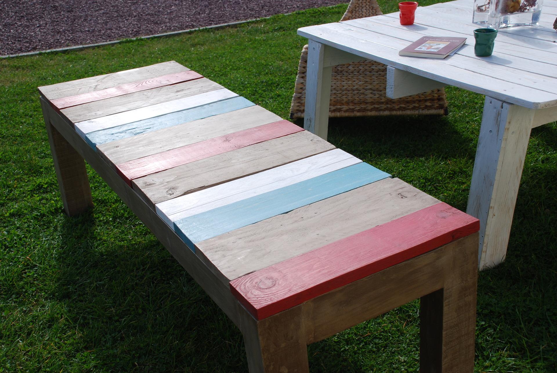 Faire Un Banc En Palette banc fait avec du bois de palettes