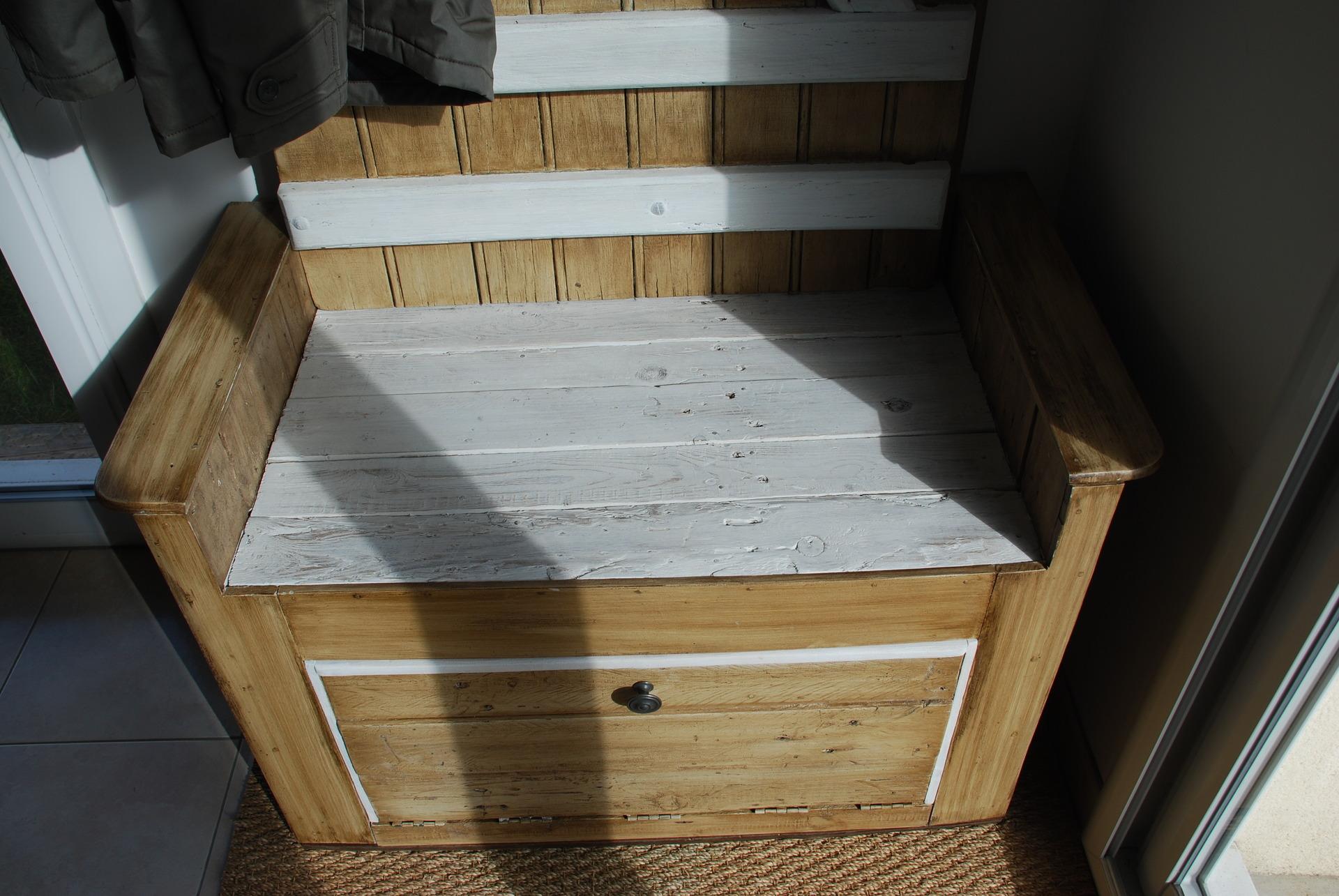 Banc D Entrée En Palette meuble d'entrée fait avec du bois de palette