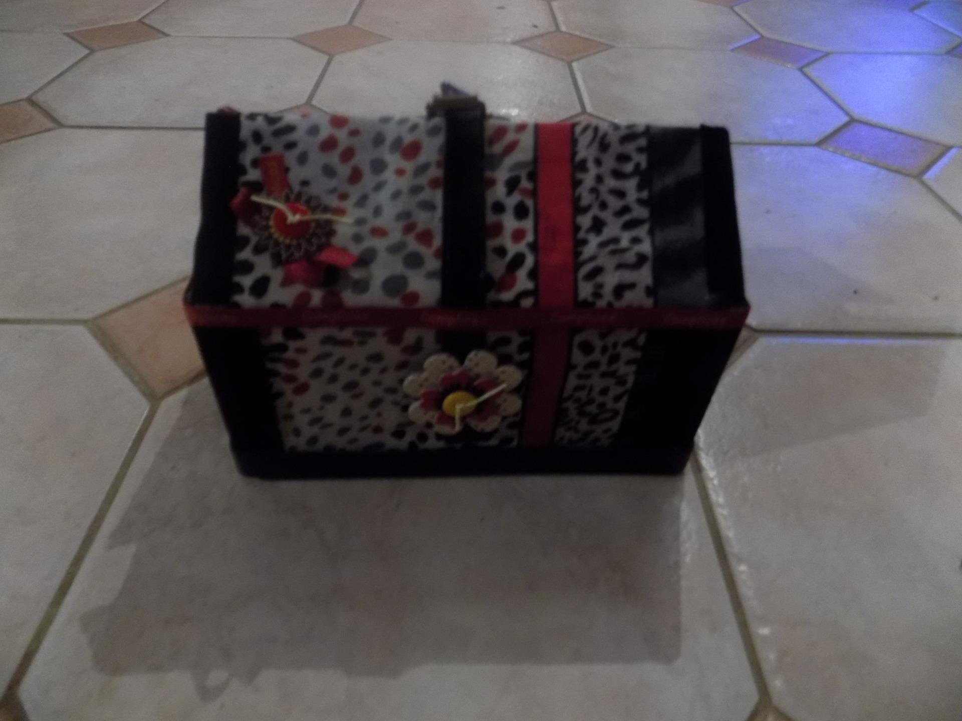 boites de rangement fait main en carton maison et deco accessoires par eliecreation. Black Bedroom Furniture Sets. Home Design Ideas