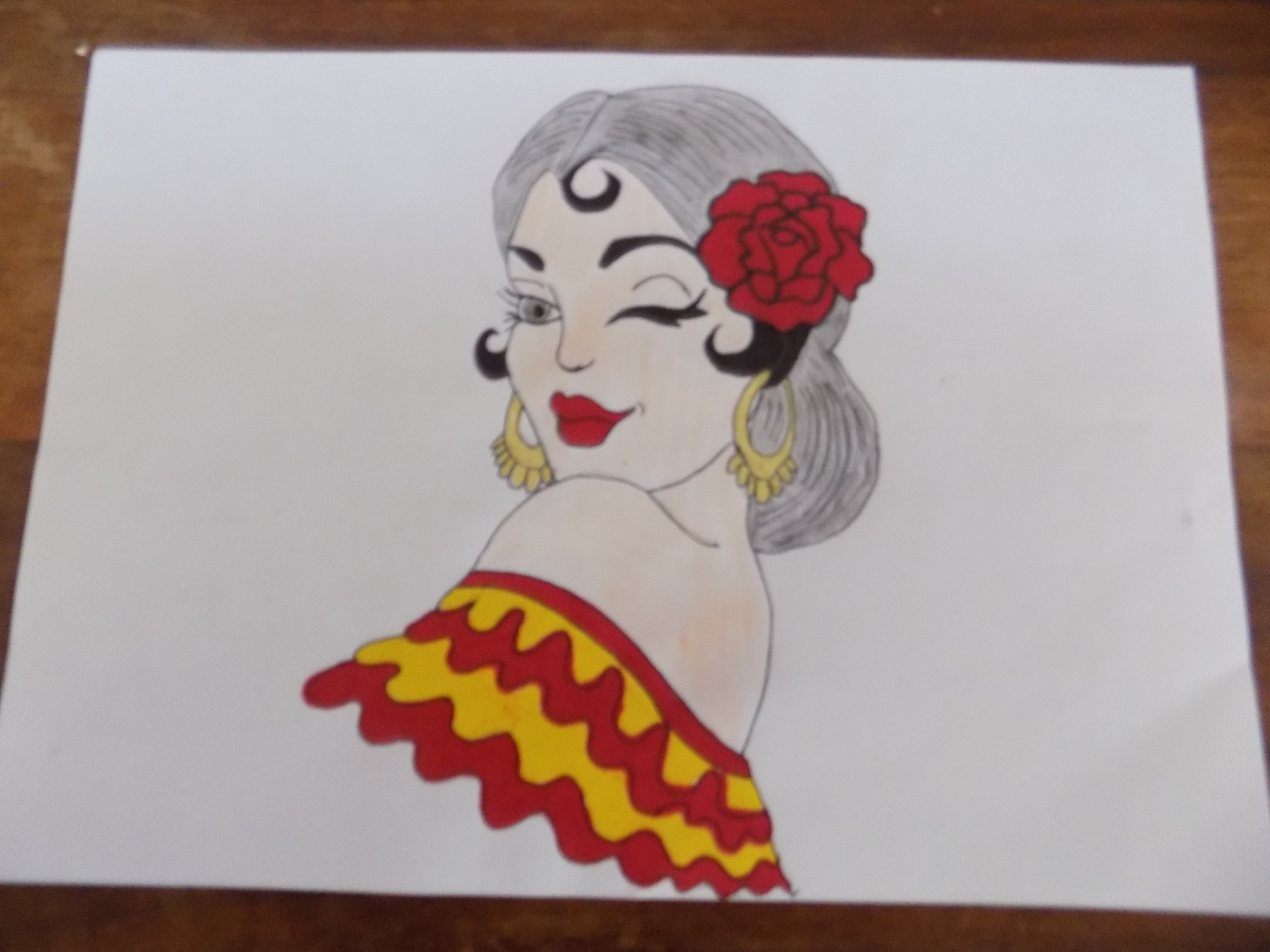 Dessins femme espagnol illustrations dessins par eliecreation - Dessin espagne ...