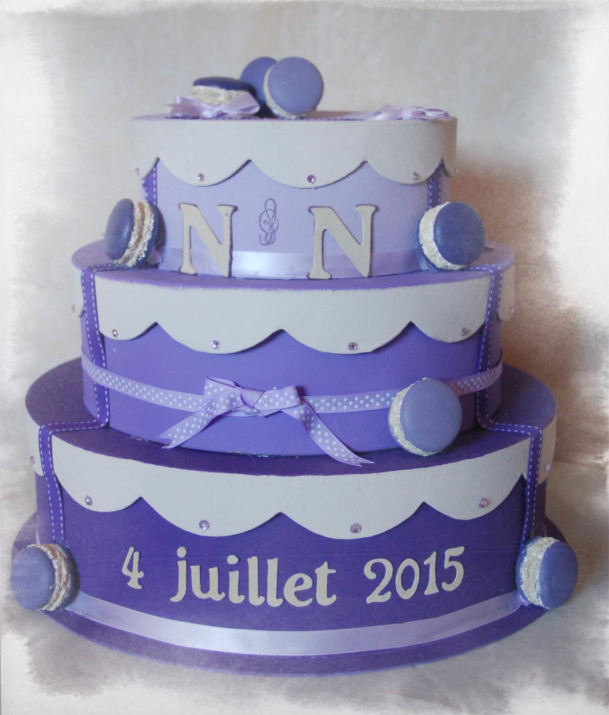 Urne Gâteau 3 étages Personnalisable