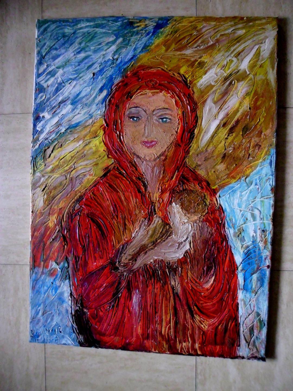 29.tableau peinture-naissance peinture à l'huile au couteau sur toile. tableau abstrait de ...