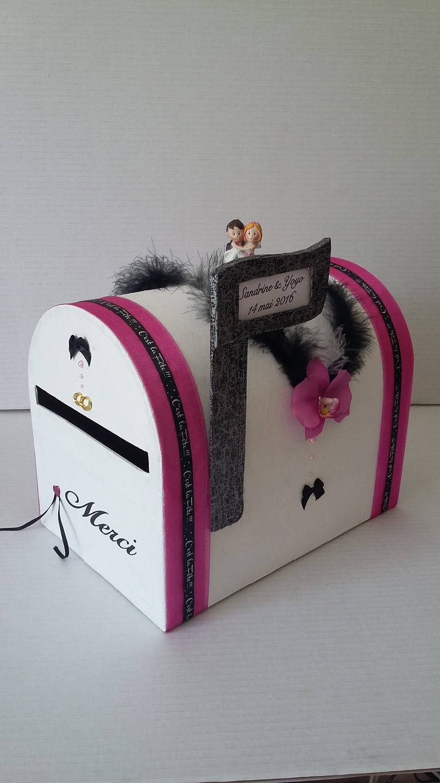 urne de mariage boite lettres am ricaine accessoires mariage par minathy71. Black Bedroom Furniture Sets. Home Design Ideas