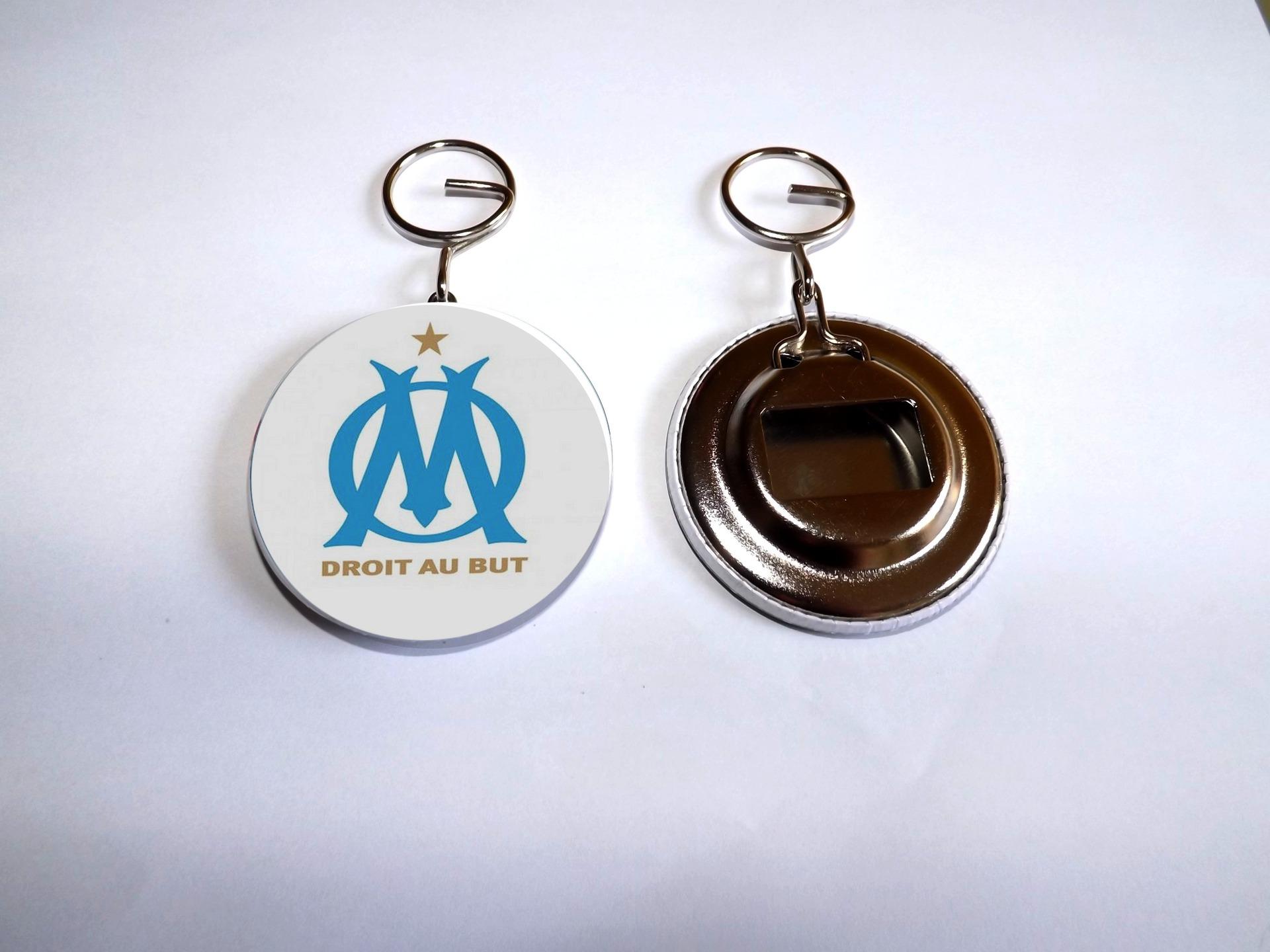 D Capsuleur Et Porte Cl Olympique De Marseille 5 8cm De