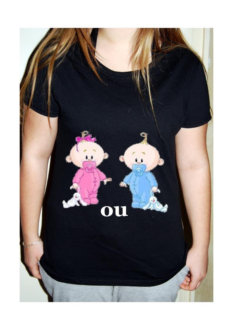 t-shirt grossesse fille ou garcon